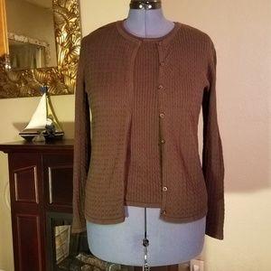 Karen Scott sweater twinset